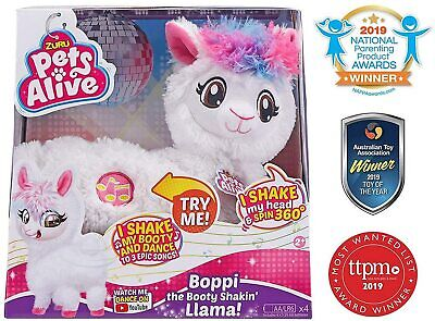 Pets Alive Boppi The Booty Shakin Llama Battery-Powered Dancing Robotic Toy by Z
