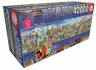 Educa 17570. La vuelta al mundo. Puzzle de 42000 piezas. 749x157cm