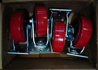 6 Inch Caster Wheels - 4 Pack