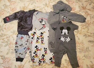 Disney Baby Clothes, 0-3 Months, Lot of 5 outfits