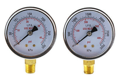 Low And High Pressure Gauges For Propane Regulator - 2.5 Inches Pair