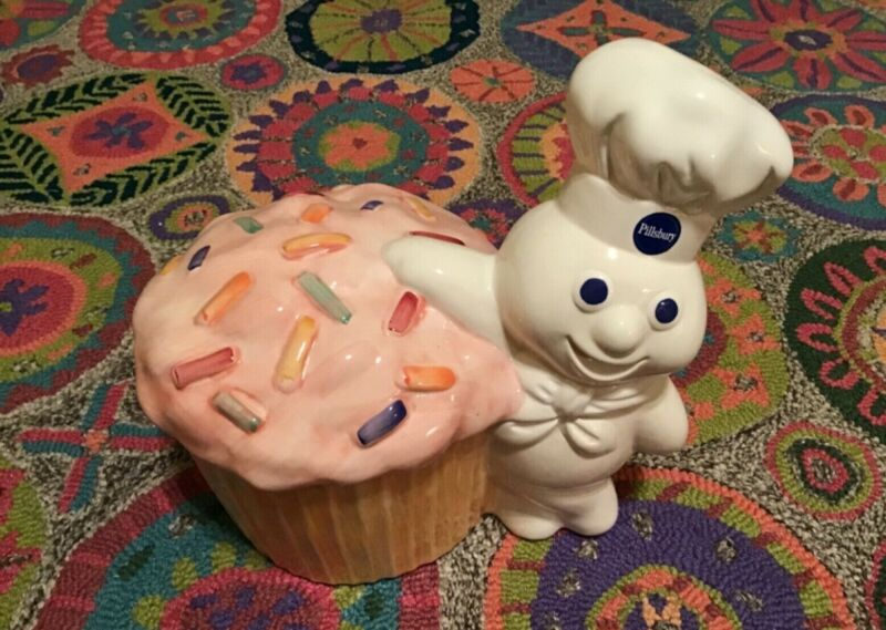 Pillsbury Funfetti Cupcake Doughboy Cookie Jar - Top ONLY Brand New