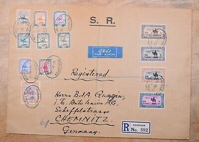 South Sudan 1936 Camel Combo Registered Large Cover to Germany Cover