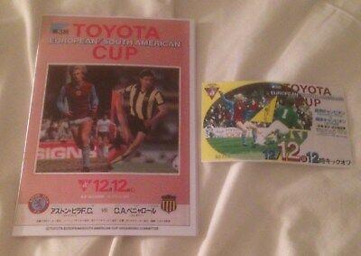1982 TOYOTA CUP REPLICA PROGRAMME & TICKET ASTON VILLA V PENAROL