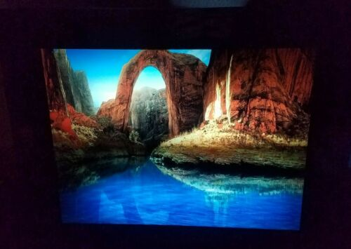 """Vintage Motion Light Up Picture With Sound Waterfall City 16"""" x 12 3/4"""""""