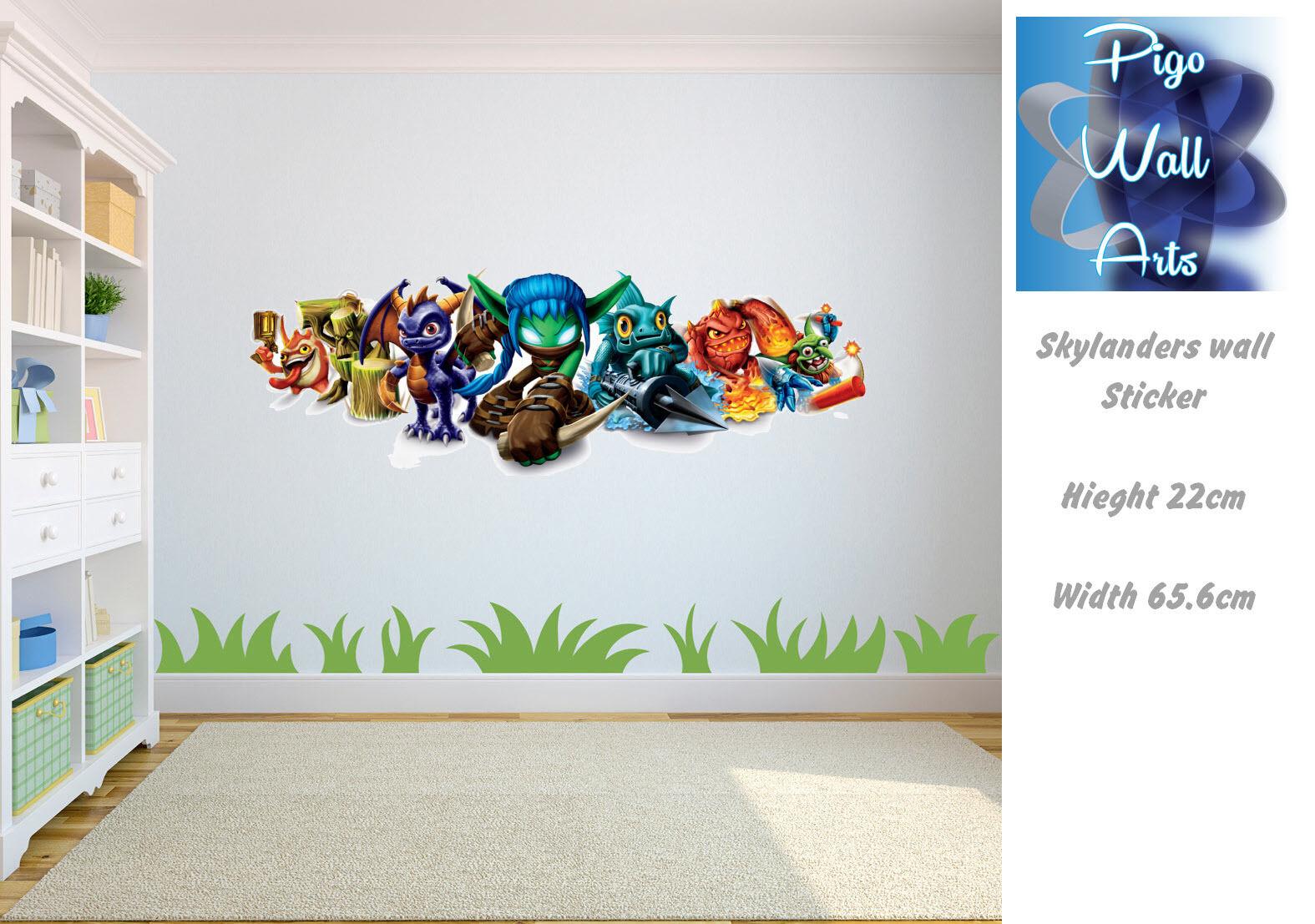 skylanders wall sticker mural wall art sticker children s childrens kids themed wall decor room stickers sets