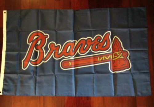 Atlanta Braves 3x5 Flag. US seller. Free shipping within the