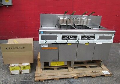New Frymaster Electric Double Digital Fryer With Filtration System 2 Spreaders