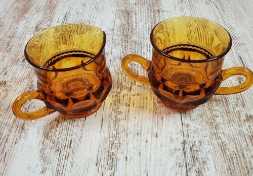 Vintage Amber Indiana Glass King