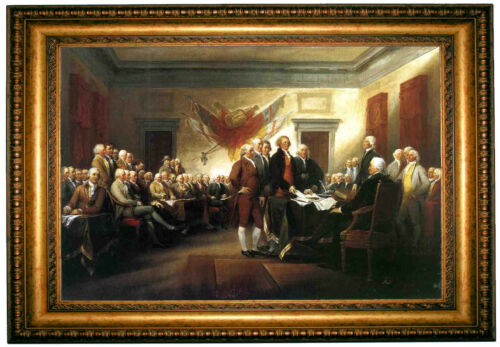 John Trumbull Signing of the Declaration of Independence-Gold Framed ...