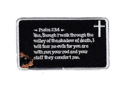 Psalm 23 4 Fear No Evil In God Lord Hook Fastener Patch