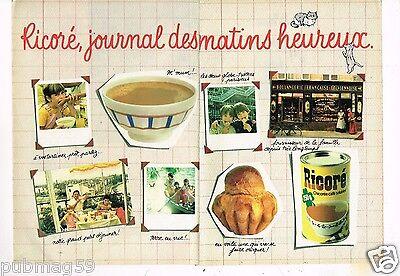Publicité advertising 1982 (2 pages) Ricoré Chicoré Café Solubles