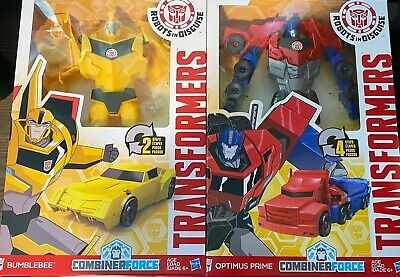 Lot of 2 Transformers 12 in Action Figures Optimus Prime & Bumble Bee