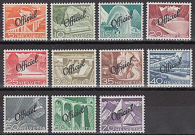 Schweiz Dienstmarken Mi.Nr. 64-74 postfrisch Mi.Wert 85€ (6616)