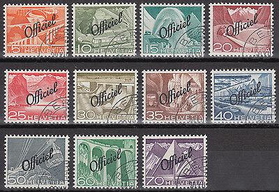 Schweiz Dienstmarken Mi.Nr. 64-74 gestempelt Mi.Wert 100€ (6617)