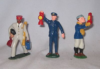 Barclay Lead Figures - Set of Three Different Railroad Workers #1