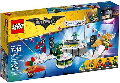2017 LEGO BATMAN MOVIE SET #70919 THE JUSTICE LEAGUE ANNIVERSARY PARTY NIB XMAS!