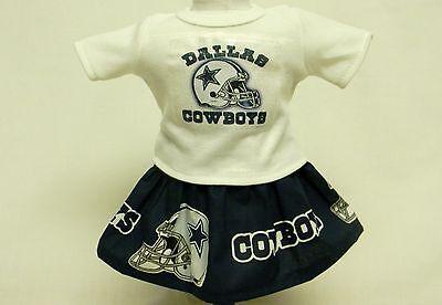 Dallas Cowboys Theme Outfit For 18 Inch Doll - Dallas Cowboys Theme