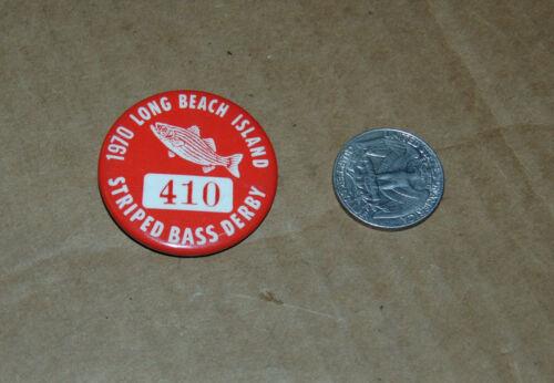 1970 Long Beach Island Striped Bass Derby Pinback Button