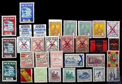SPAIN Civil War Various Revenues & Propaganda Mint/Used MIXED CONDITION BC897