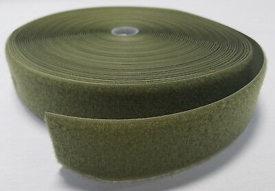 1 Yard Industrial Grade Sew On 2  Olive  Od  Green Hook And Loop   Loop Side