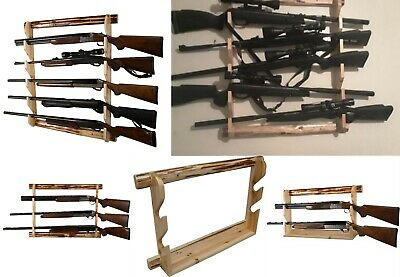 Gun Wall Display - Gun Wall Rack Rifle Storage Display 2/3/5 Riffles Shotgun Guns Stand Wall Mount