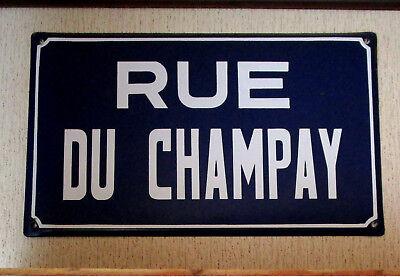 o Plaque de rue émail Champay Saint-Nicolas charbonnage lampe de mineur