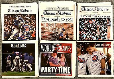Chicago Tribune   Chicago Sun Times   Cubs Win     6 Papers