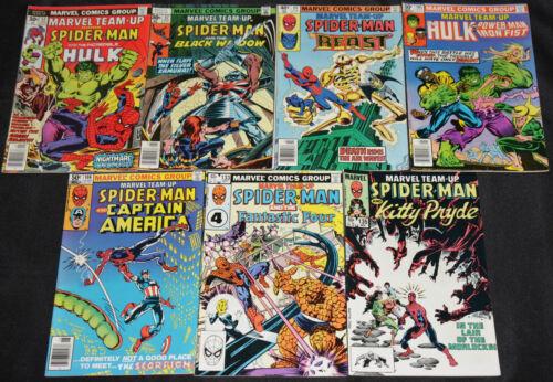 Marvel Bronze Age MARVEL TEAM-UP 25pc Mid-High Grade Comic Lot VF-NM Spider-Man