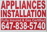 Appliances&gas line installation call Bikram for best deals