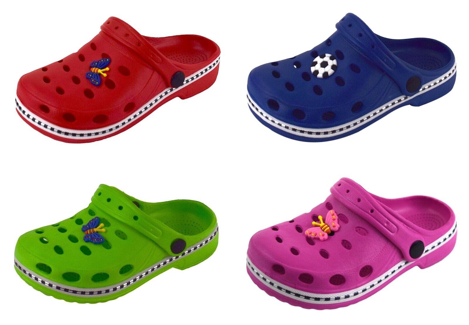 Kinder Clogs Pantoletten Hausschuhe Badeschuhe Sandalen Schuhe Gr. 18/19 - 34/35