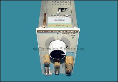 Tektronix Fg503 3 Mhz Function Generator Plug-in Tm500 Tm5000 Frames B-049880