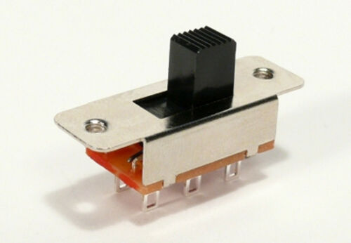 ALPHA  DPDT SLIDE SWITCH    ON-ON (Ships from USA)