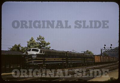 Orig 1953 Slide - Baltimore & Ohio B&O F7 Stoops Ferry PA Pennsylvania Railroad