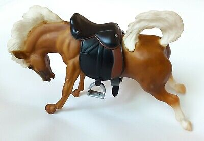 """Vintage Breyer Molding Co. Horse With Saddle 9"""" Long By 5"""" Tall"""