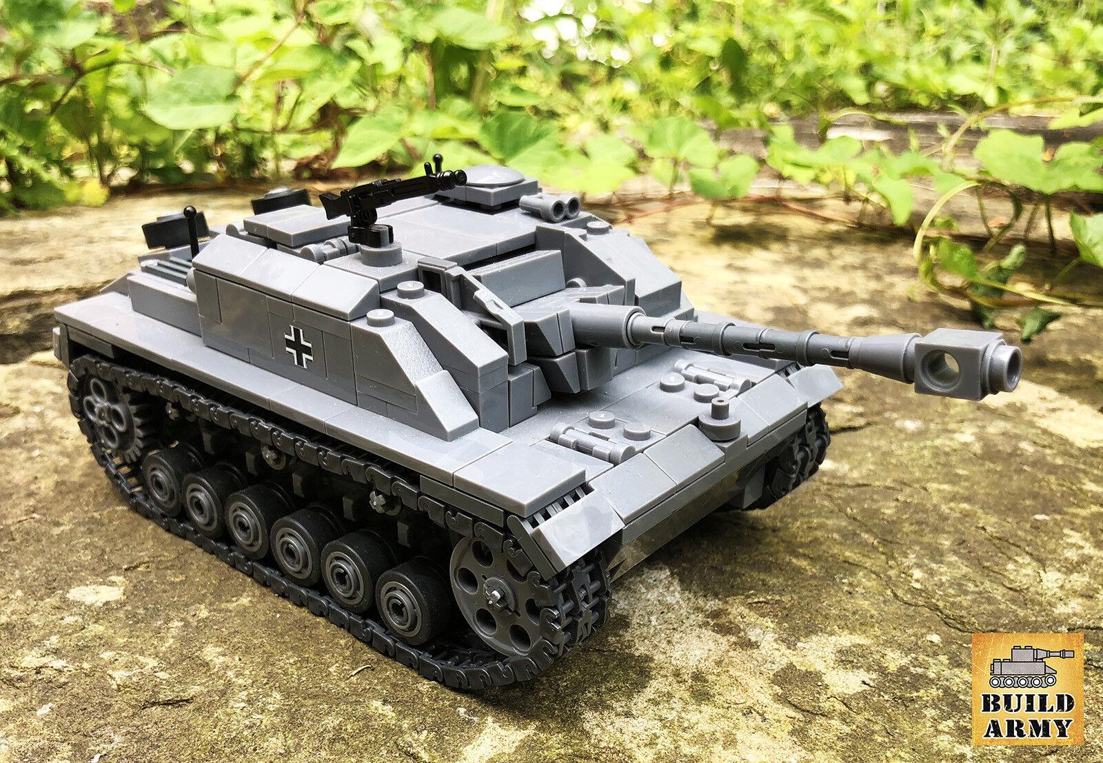 WW2 StuG tank MOC brick set + building instruction made by lego digital designer