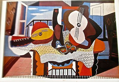 Pablo Picasso  Mandolin and Guitar 16x11 Offset Lithograph Unsigned