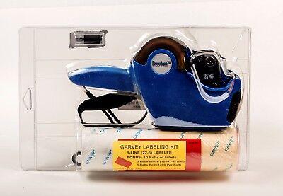 Pricelabel Gun Garvey Labeling Kit 1 Line6 Digit Pricegun 10 Rolls Labels