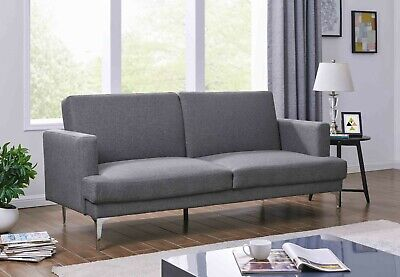 Luxury Sofa Bed 3 Seater Grey or Brown Fabric Sofabed Suite Reclining Couch New