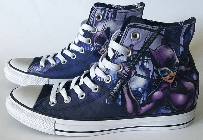 cdbe47a8cdc9 Chuck Taylor All Star Converse DC Comics Catwoman Size Mens 8   Womens 10