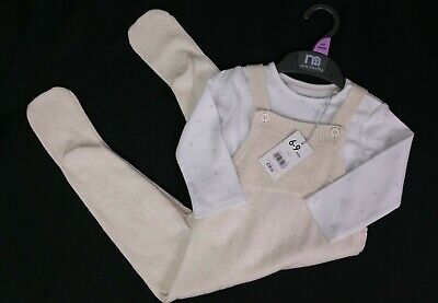 Baby Boys Clothes MOTHERCARE Knitted Star Dungarees & Bodysuit Outfit 6-9 Months