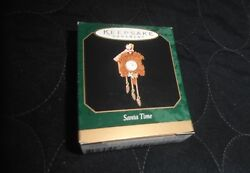 1999 SANTA TIME Miniature Hallmark Keepsake Ornament CUCKOO CLOCK nib RARE!