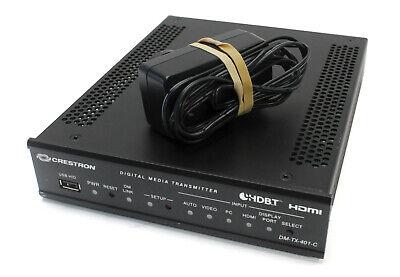 Crestron Dm-tx-401c Hdmi Digitalmedia 8g Transmitter W Ac Power Supply Adapter