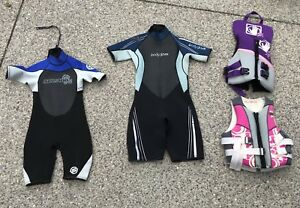Ladies & Girls Wet Suits and PFD/Lifejacket