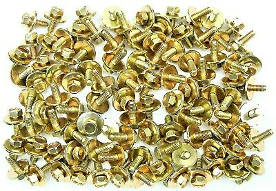 Body Bolts- M6-1.0 x 16mm Long- 19mm Washer- 10mm Hex- 100 bolts- G#170H