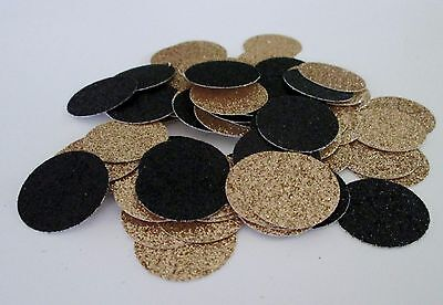 Black and Gold Glitter Confetti Dots. 100 pieces- 1 inch. Great Party Decor!