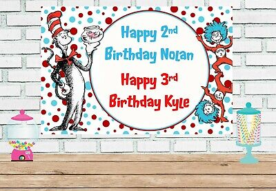 Dr Suess Party Supplies (3x5 Dr. Suess vinyl Birthday)