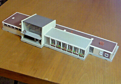 German Model railway station - 1960s - modernist