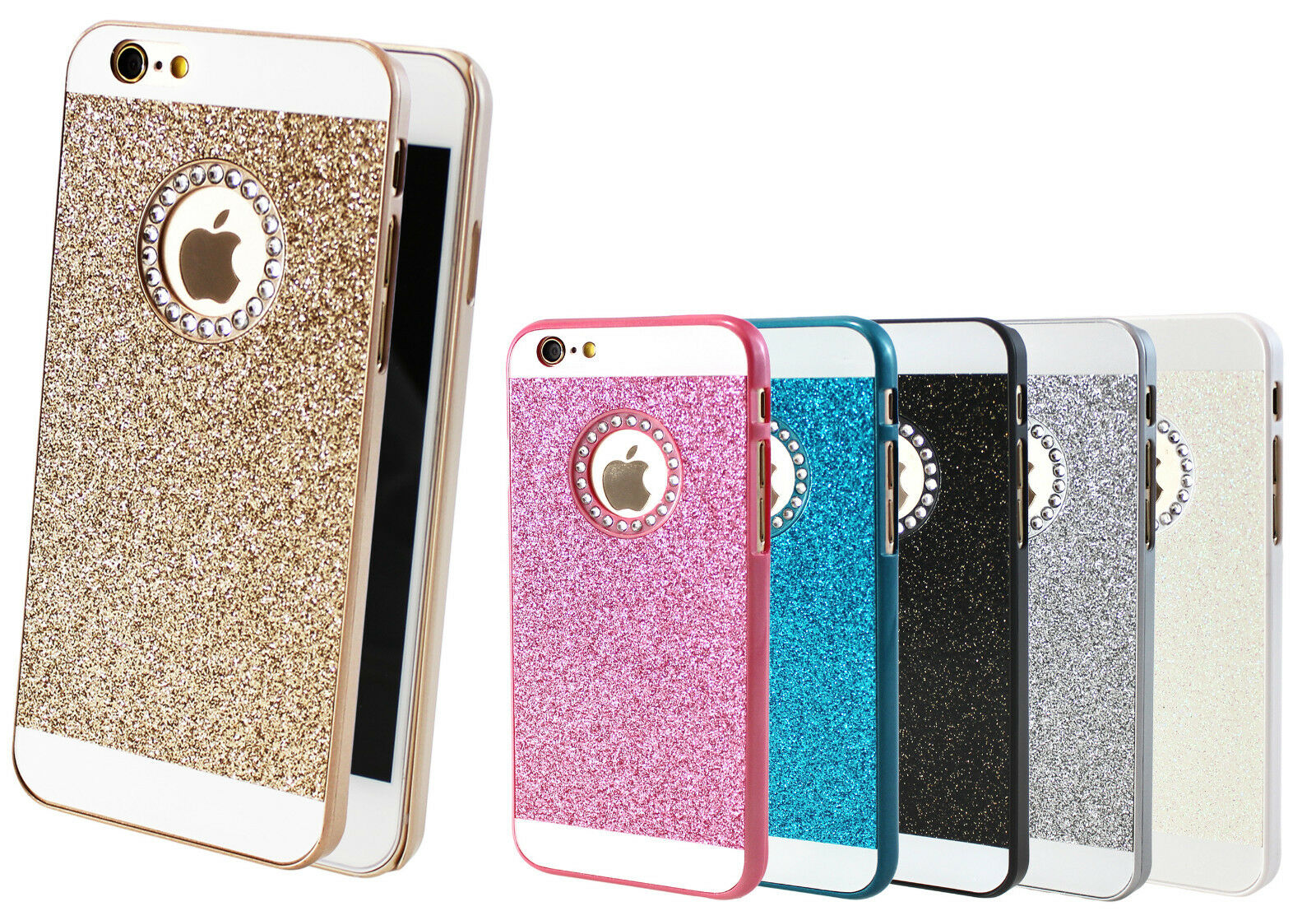 handy schutz h lle tasche glitzer iphone 4 5 6 case bumper. Black Bedroom Furniture Sets. Home Design Ideas