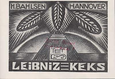 HANNOVER, Werbung 1916, H. Bahlsen Bahlsens Butter-Keks-Fabrik AG Leibniz-Keks